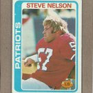 1978 Topps Football Steve Nelson Patriots #116