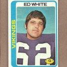 1978 Topps Football Ed White Vikings #163