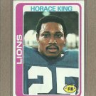 1978 Topps Football Horace King Lions #178