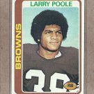 1978 Topps Football Larry Poole Browns #184