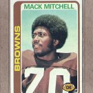 1978 Topps Football Mack Mitchell Browns #204