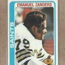 1978 Topps Football Emanuel Zanders Saints #218