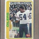 1978 Topps Football Gregg Bingham Oilers #224