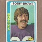 1978 Topps Football Bobby Bryant Vikings #233