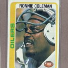 1978 Topps Football Ronnie Coleman Oilers #258