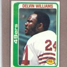 1978 Topps Football Delvin Williams 49ers #264