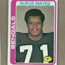 1978 Topps Football Rufus Mays Bengals #269