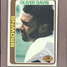 1978 Topps Football Oliver Davis Browns #288