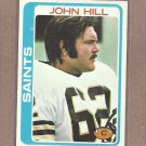 1978 Topps Football John Hill Saints #296