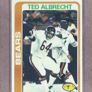 1978 Topps Football Ted Albrecht Bears #298