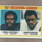 1978 Topps Football Receiving Leaders #332