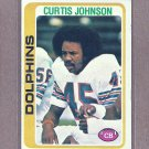 1978 Topps Football Curtis Johnson Dolphins #342