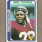 1978 Topps Football Mike Thomas Redskins #375
