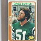 1978 Topps Football Greg Buttle Jets #382