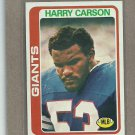 1978 Topps Football Harry Carson Giants #393
