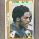 1978 Topps Football Virgil Livers Bears #397