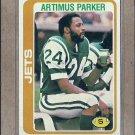 1978 Topps Football Artimus Parker Jets #402