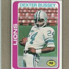 1978 Topps Football Dexter Bussey Lions #427
