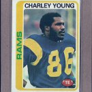 1978 Topps Football Charley Young Rams #435