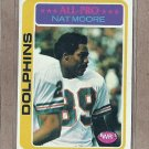 1978 Topps Football Nat Moore Dolphins #440