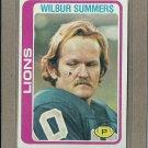 1978 Topps Football Wilbur Summers Lions #447