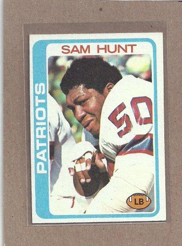1978 Topps Football Sam Hunt Patriots #461