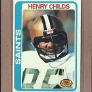 1978 Topps Football Henry Childs Saints #463