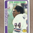 1978 Topps Football Otis Armstrong Broncos #465