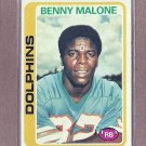 1978 Topps Football Benny Malone Dolphins #493
