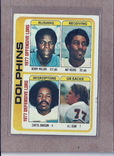 1978 Topps Football Dolphins Team Card #514