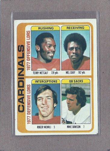 1978 Topps Football Cardinals Team Card #523