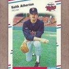 1988 Fleer Baseball Keith Atherton Twins #1