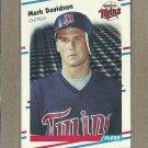 1988 Fleer Baseball Mark Davidson Twins #8