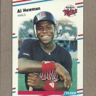1988 Fleer Baseball Al Newman Twins #17