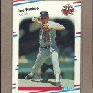 1988 Fleer Baseball Joe Niekro Twins #18