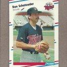 1988 Fleer Baseball Dan Schatzeder Twins #21
