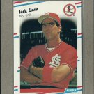1988 Fleer Baseball Jack Clark Cardinals #26
