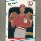 1988 Fleer Baseball Ken Dayley Cardinals #30