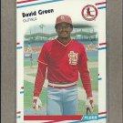 1988 Fleer Baseball David Green Cardinals #34