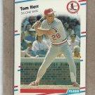 1988 Fleer Baseball Tom Herr Cardinals #35