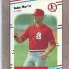 1988 Fleer Baseball John Morris Cardinals #43