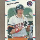 1988 Fleer Baseball Dave Bergman Tigers #52