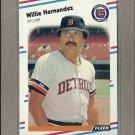 1988 Fleer Baseball Willie Hernandez Tigers #58