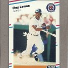 1988 Fleer Baseball Chet Lemon Tigers #61