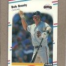 1988 Fleer Baseball Bob Brenly Giants #77