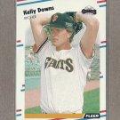 1988 Fleer Baseball Kelly Downs Giants #80