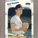 1988 Fleer Baseball Dave Dravecky Giants #81