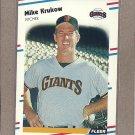 1988 Fleer Baseball Mike Krukow Giants #85