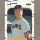 1988 Fleer Baseball Jon Perlman Giants #93