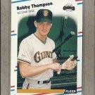 1988 Fleer Baseball Bobby Thompson Giants #98